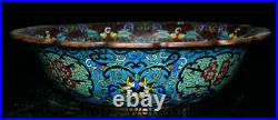 13 Old Chinese Royal Palace Cloisonne Bronze Fish Flower Basin Tub Pot Statue