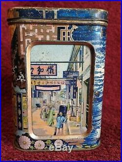 1800-s IMPERIAL RUSSIA RUSSIAN CHINA TIN TEA BOX VASILII PERLOV & SONS