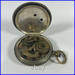1800s Imperial Duplex Qing Dynasty Chinese Trade Market Antique Pocket Watch