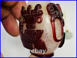 18/19th Chinese Imperial Glass Work Shop Red Ruby Overlay Snuff Bottle