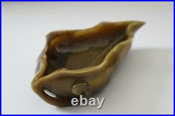 19TH C. IMPERIAL CHINESE LARGE TIGER'S EYE BRUSH WASHER from prominent estate