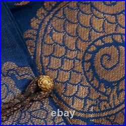 19th century Chinese Imperial Blue Chifu Robe 9 Dragons