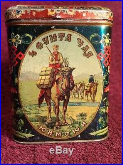AMAZING! - 1800-s IMPERIAL RUSSIA RUSSIAN CHINA TIN TEA BOX PERLOV & SONS