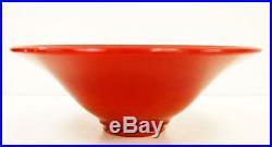 Amazing Antique Chinese Royal Red Peking Glass Bowl