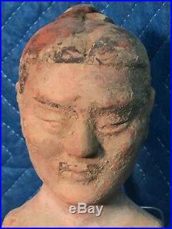 Ancient Chinese Terracotta Pottery Soldier from a 108 BC Han Dynasty Royal Tomb