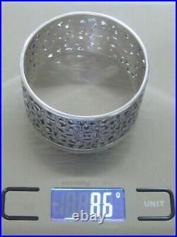 Antique Chinese Asian Imperial Reticulated Open Work Silver Bangle Cuff Bracelet