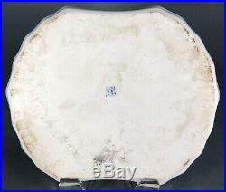 Antique Chinese Blue And White Imperial Dragon Tray Dish Plate Republic Period