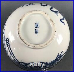 Antique Chinese Imperial Bleu de Hue Blue Porcelain Bowl Nei Fu 19th c