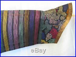 Antique Chinese Imperial Dragon Summer Robe, Long Purple Kossu weave