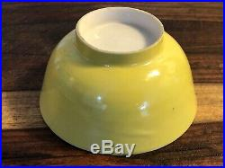 Antique Chinese Porcelain Imperial Yellow Bowl Qing Fine China