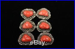 Antique Chinese Qing Dynasty Coral Buttons Jewellery For Imperial Robe