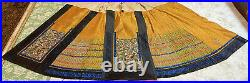 Antique Chinese Qing Dynasty Hand Embroidery Imperial Yallow Skirt