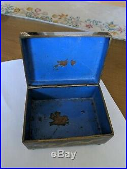 Antique Chinese Qing Imperial Dragons Box Black Background