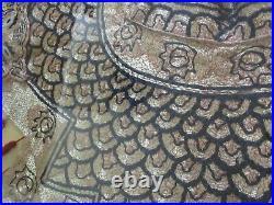 Antique Fine Old Chinese Master Piece Collar Forbidden Stitch Gilt Gold Royal
