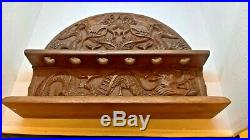 Antique Imperial Chinese Dragon Wooden Carved Pipe Stand / Rest