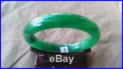Antique Imperial Emerald Green Jade Bangle Translucent Natural Jadeite Bracelets