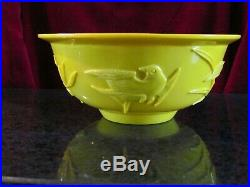 Antique Imperial Yellow Peking Glass Bowl