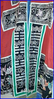 Antique Ornate Embroidered Asian Royal Robe Unknown Origin