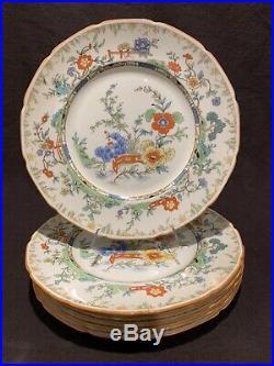 Antique Royal Doulton 10/96 Asian Garden Chinese Dinner Plate 10 3/8 Dia Set 6