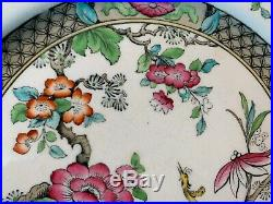 Antique Royal Doulton D2015 Asian Bird Chinese Dinner Plates 10 5/8 Dia Set 6