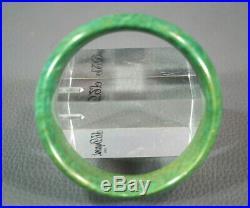 Antique Royal Green Jade Jadeite Hand-carved Lady Cuff Bangle Bracelet Gemstone
