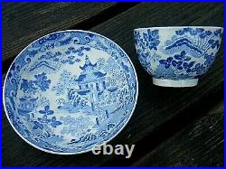 Antique Royal Worcester Tea Bowl And Saucer Chinese Pattern