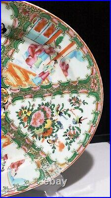 Antique Vintage Chinese Canton Imperial Famille Rose Medallion 14 Deep Platter
