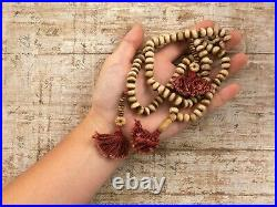 Antique Vintage Victorian Chinese Qing Dynasty Faux Resin Bone Imperial Necklace