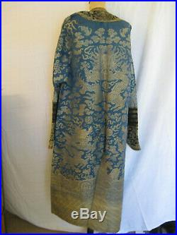 Antique blue Kossu summer weave Chinese Imperial Dragon Robe