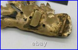 Antique rare brass Chinese Imperial Talon Five Claw Dragon Foot Belt Buckle