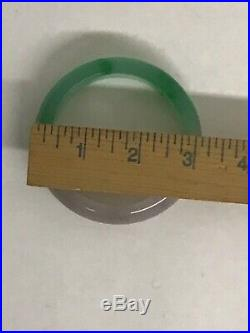 Authentic Chinese Jade Bangle Imperial Green and Lavendar