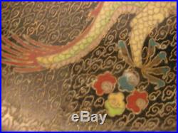 Beautiful Signed Chinese Cloisonne Qing Period Imperial Dragon Bowl