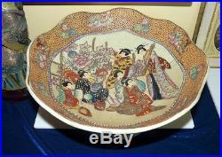Beautiful and Large Royal Satsuma Console Bowl
