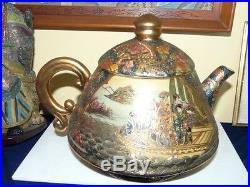 Beautiful and Large Royal Satsuma Teapot