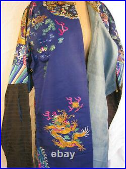 Blue Imperial robe with Dragons, Qing Dynasty