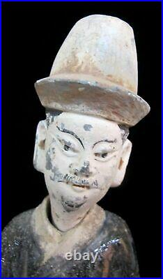CHINESE Imperial Nodder MING Dynasty Purple Sancai Glaze Removable Head