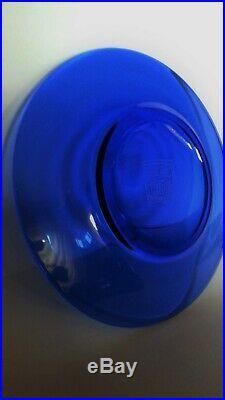 CHRISTIE'S Rare Antique IMPERIAL TRANSLUCENT Sapphire BLUE Glass Plate Qianlong