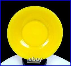 Chinese Antique Peking Glass Imperial Yellow 7 7/8 Plate 1900-1930