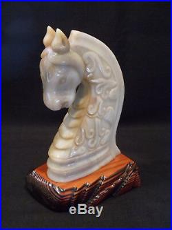 Chinese Carved Jade Imperial Horse Head Seal C1900
