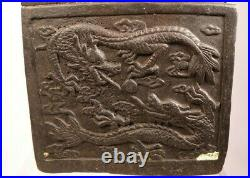 Chinese Dynasty Bronze Dragon Tortoise Turtle Beast Imperial Seal Stamp Signet