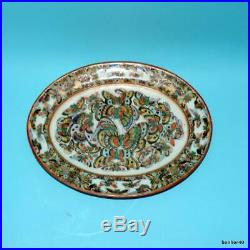 Chinese Export Porcelain 19thc Imperial Canton Charger Platter Famille Rose