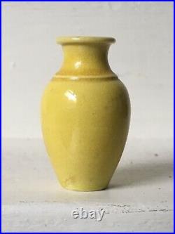 Chinese Kangxi miniature monochrome imperial yellow porcelain vase