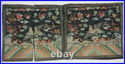 Chinese archaize ancient imperial officier robe hand embroidery rank badge 1set