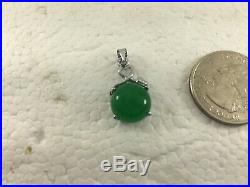 Chinese finest Imperial green Jade -Pendant 18Kt