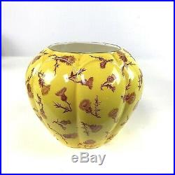 Circa 1888 Antique Royal Worcester Ribbed Melon Form Flower Vase in With Glaze