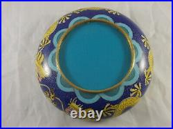 Cloisonne Bowl Yellow Imperial Dragon Start 20. Jh. Ø16, 5cm Enemaled Bowl