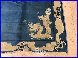 EARLY 1800's ANTIQUE CHINESE IMPERIAL DRAGON RUG 7.8x9.2 RARE MUSEUM AGE CARPET
