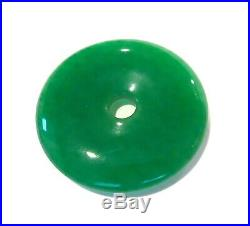 IMPERIAL GREEN Jadeite DONUT Vintage