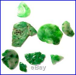 IMPERIAL Green GEMS JADEITE Vintage LOT