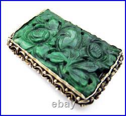 IMPERIAL Green JADEITE Antique Brooch/PENDANT